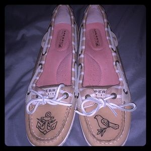 Sperry Top Siders with Custom Tattooed Designs 8.5